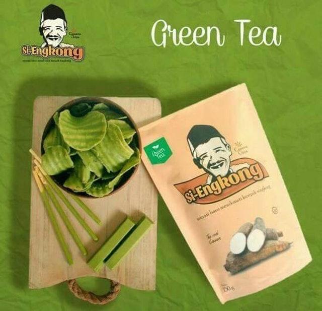 Si-Engkong  Keripik Singkong Green Tea 1