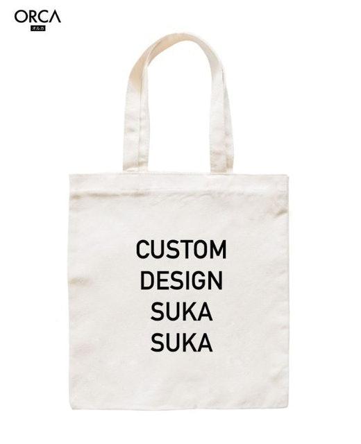 Tote Bag Kanvas Putih Custom 1