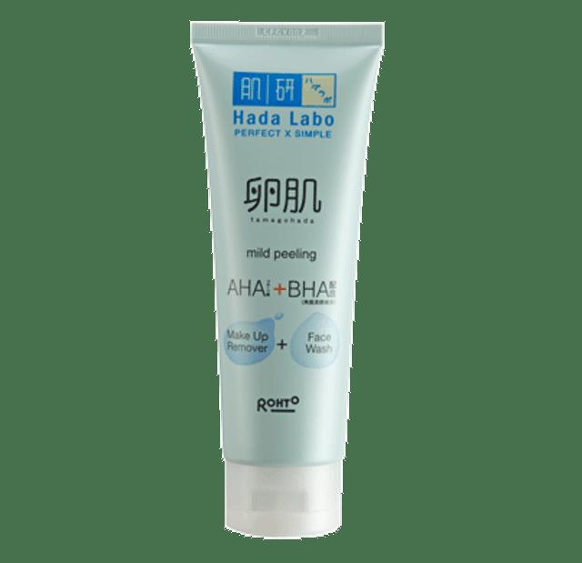 Rohto Hada Labo Tamagohada Ultimade Mild Peeling Face Wash Make Up Remover  1