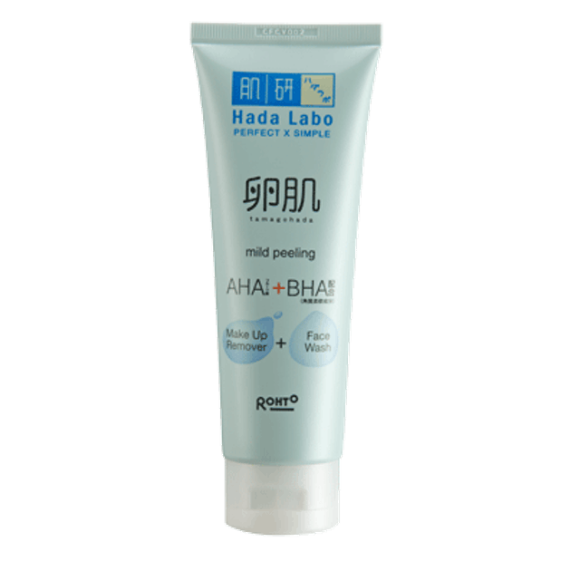 Rohto Hada Labo Tamagohada Ultimade Mild Peeling Face Wash Make Up Remover  1