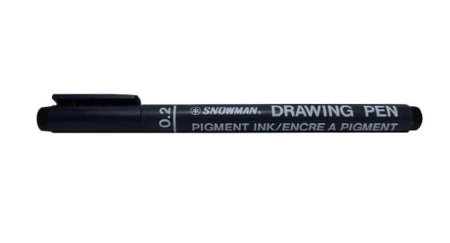 Snowman  Drawing Pen 1