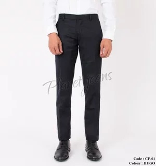 Planet Jeans Celana Bahan Kain Kerja Model Slimfit Pria Hugo Black 1