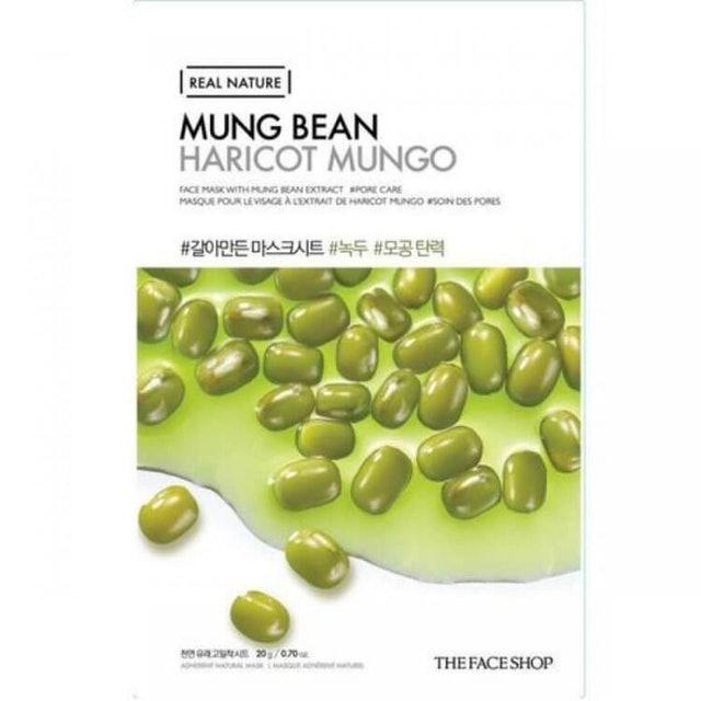 The Face Shop  Real Nature Mung Bean Face Mask 1