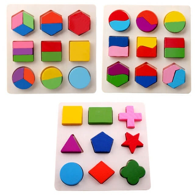 Puzzle Kayu Bentuk Geometri  1