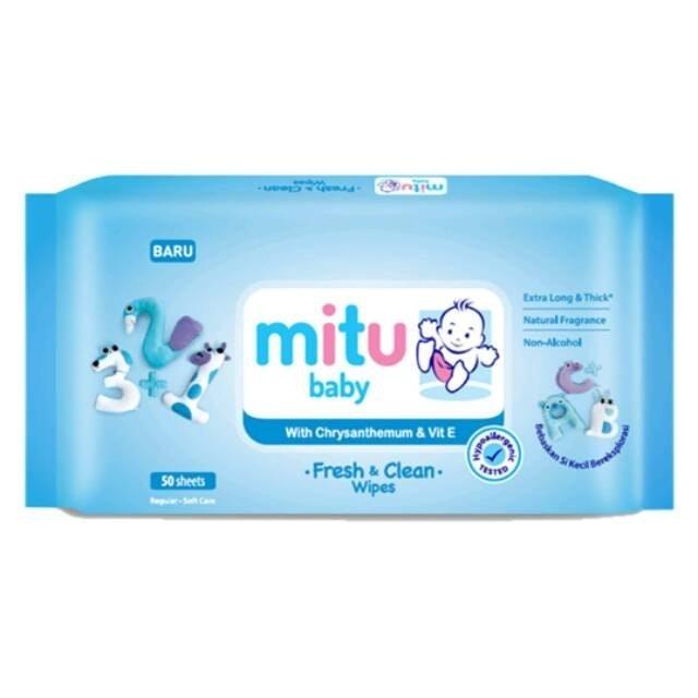 Mitu Baby  Fresh & Clean Wipes with Chrysanthemum & Vit E 1