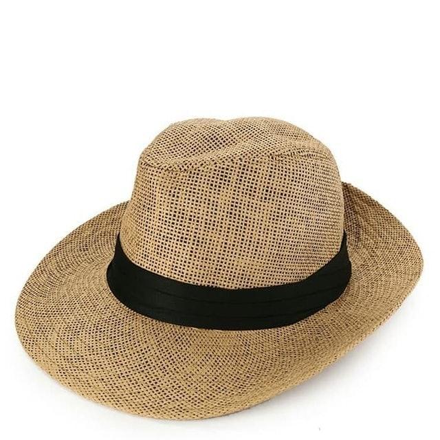 Urban State  Straw Wide Brim Panama Hat Khaki 1