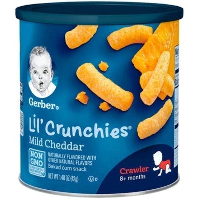 Gerber  Lil' Crunchies Baked Corn Snack, Mild Cheddar, 1.48 oz 1