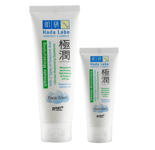 Rohto Hada Labo Gokujyun Ultimate Moisturizing Face Wash 1