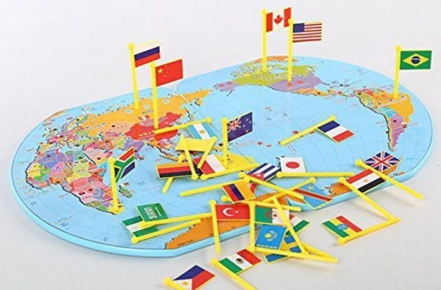 Map of The World National Flag 1