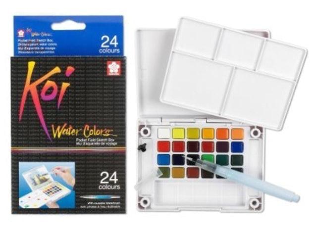 Sakura Koi® Water Color Field Sketch Travel Kit - 24 Colors 1
