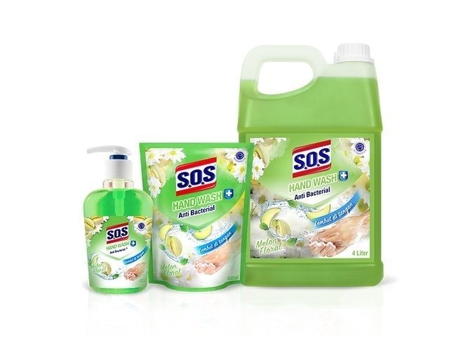 SOS  Hand Soap Fragrance Anti Bacterial - Melon 1