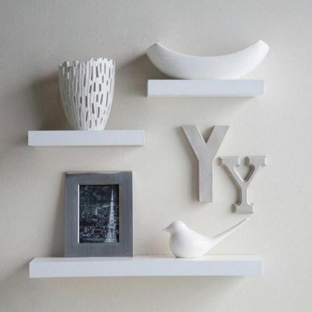 Set Floating Shelves - Putih [3 pcs/ 40 x 20 x 20 cm] 1