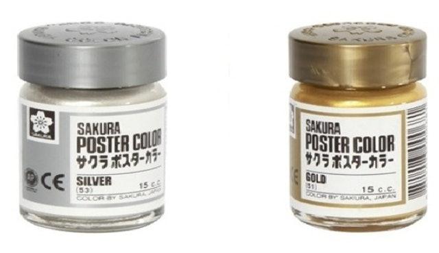 Sakura  Poster Color Gold & Silver 1