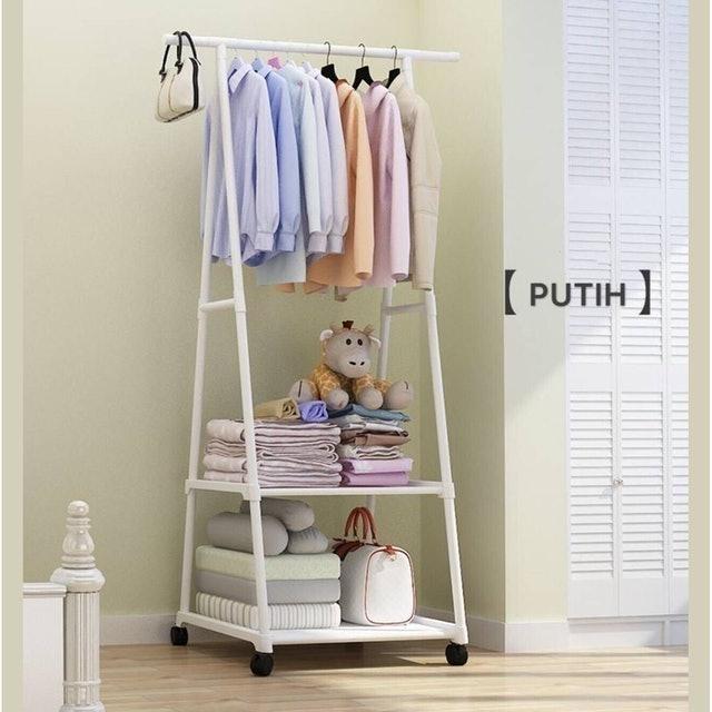 Triangle Stand Hanger Putih 1