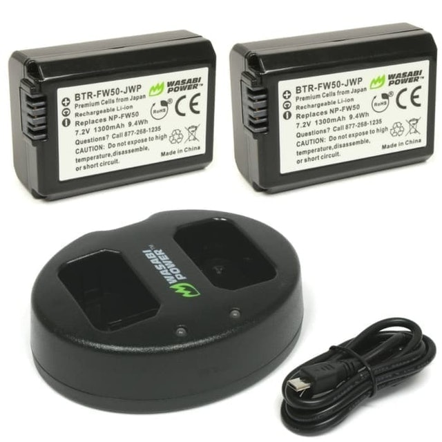 Wasabi Power  Battery (2-Pack) and Dual Charger for Sony  1
