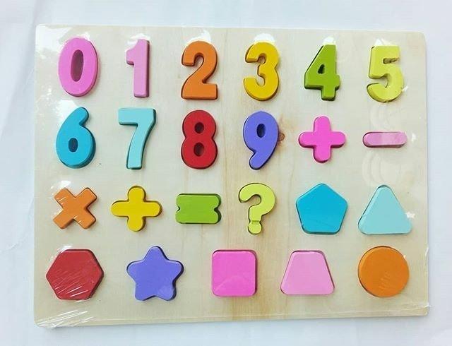 Chunky Puzzle Angka dan Bentuk 1