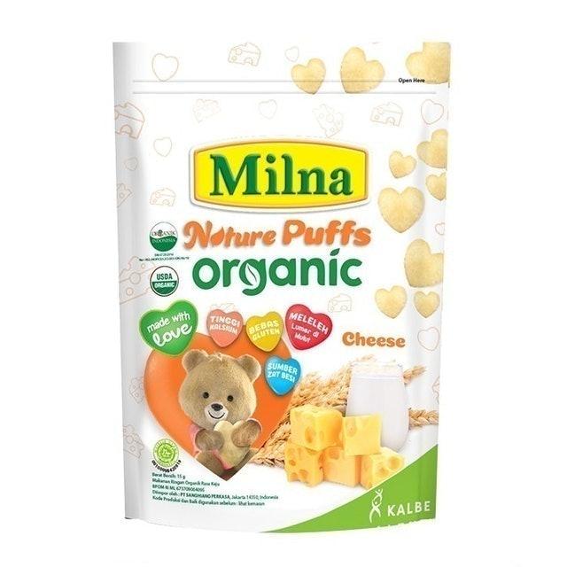 Kalbe Milna Nature Puff Organic Cheese 15gr 1