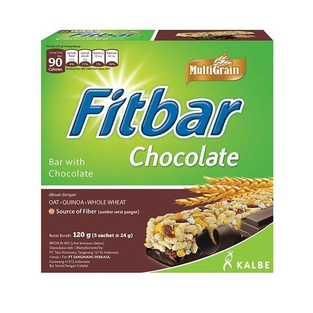 Kalbe Fitbar Multigrain Chocolate 120gr (5x22gr) 1