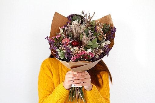 Hadiah bunga kering sebagai alternatif bunga segar