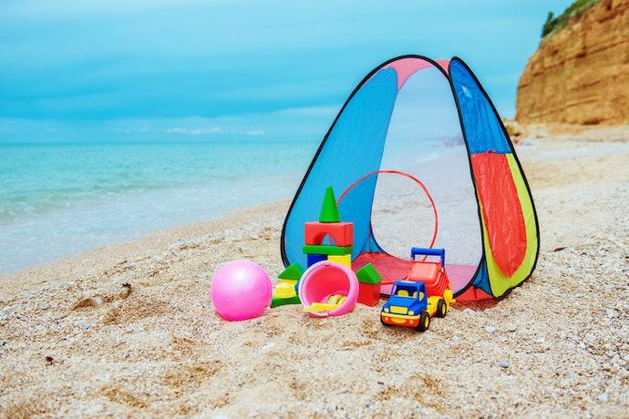 Playhouse tent, bisa dijadikan tempat penyimpanan aneka mainan anak