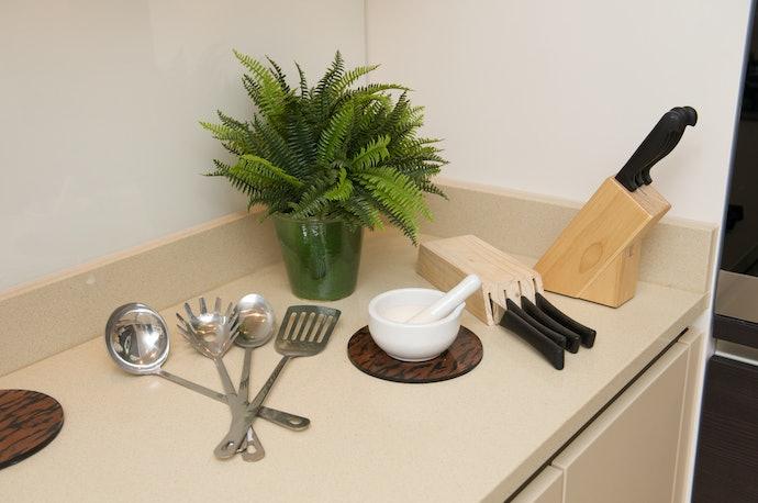 Dapur menjadi jauh lebih rapi dan bergaya