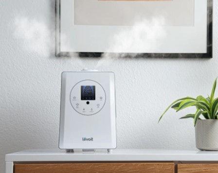 Ultrasonic humidifier: Menggunakan getaran gelombang ultrasonic tanpa pemanasan