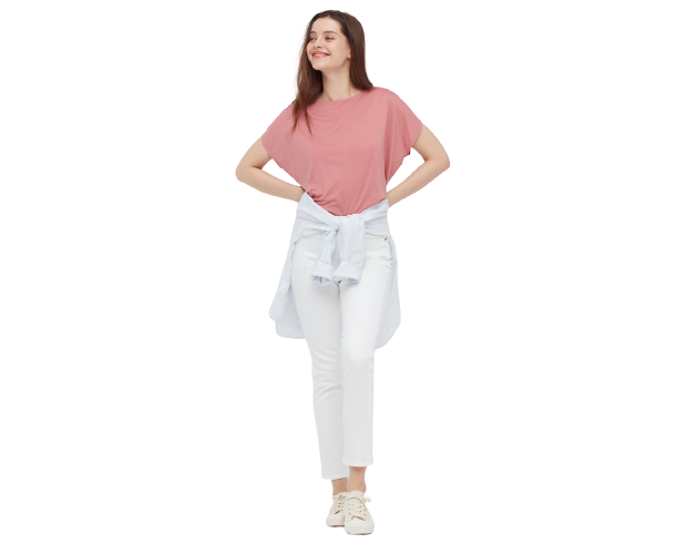 Polyester: Untuk kaos yang lebih flowy