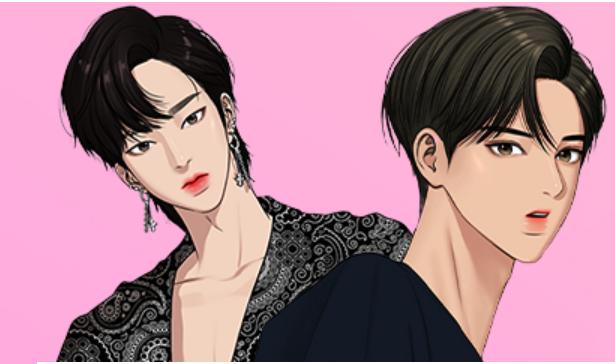 Manhwa, gambarnya banyak terinspirasi dari para K-POP idol