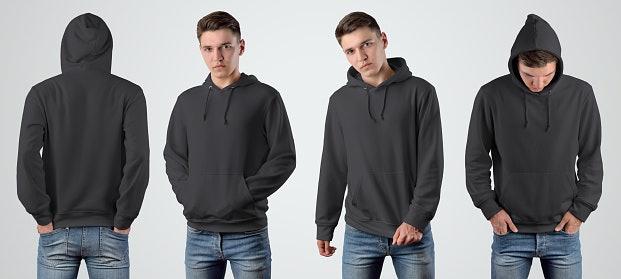 Jika ingin terkesan maskulin dan cool, pilih hoodie warna hitam