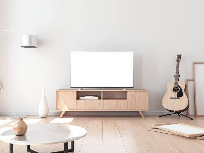 Pilih ukuran TV UHD yang sesuai dengan ukuran ruangan