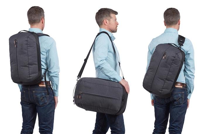 Pertimbangkan two-way bag atau three-way bag