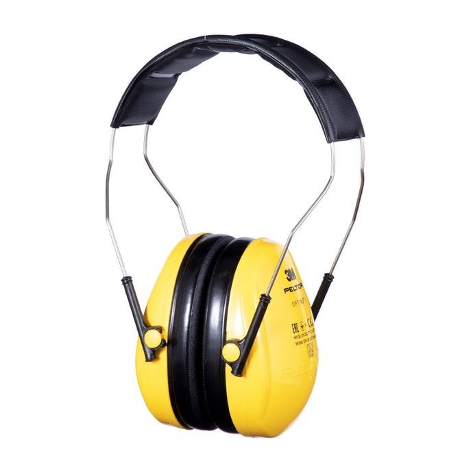 Earmuffs model headband, mudah dipasang dan dilepas