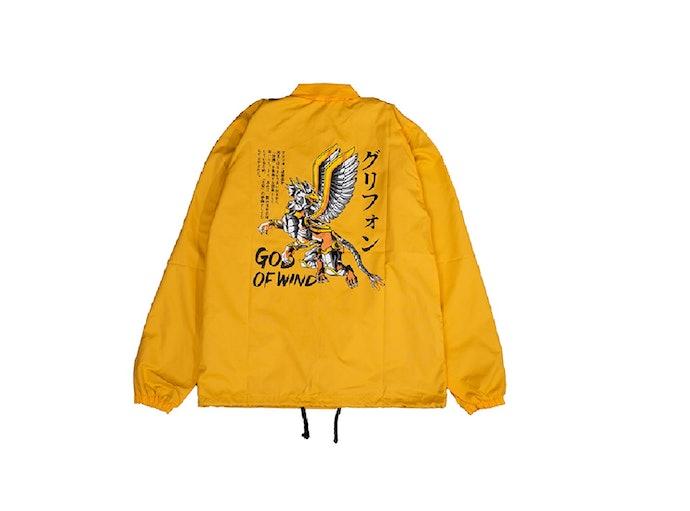 Perhatikan gambar di bagian belakang jaket