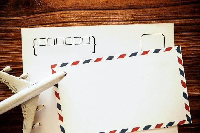 Perhatikan kotak kode pos dan gambar yang menyertainya