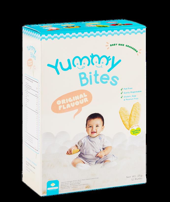 Yummy Bites Rice Crackers: Mudah meleleh di mulut bayi