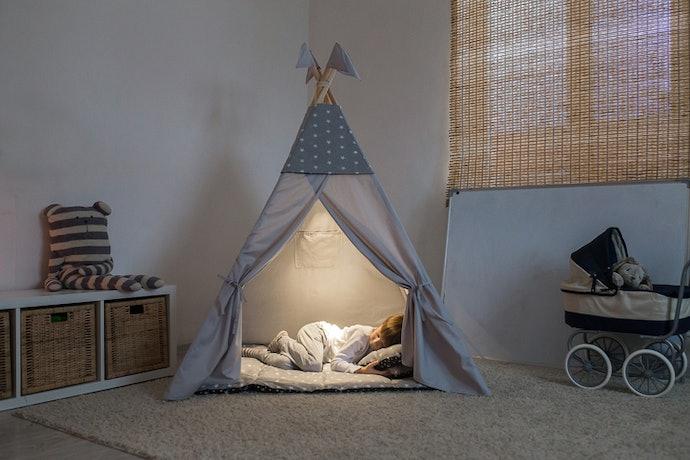 Teepee tent, bisa dijadikan penghias kamar anak
