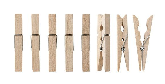 Wooden clip polos: Terlihat lebih natural