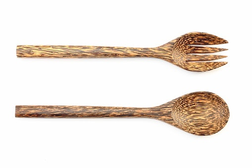 Souvenir sendok garpu kayu, cocok untuk acara bernuansa vintage