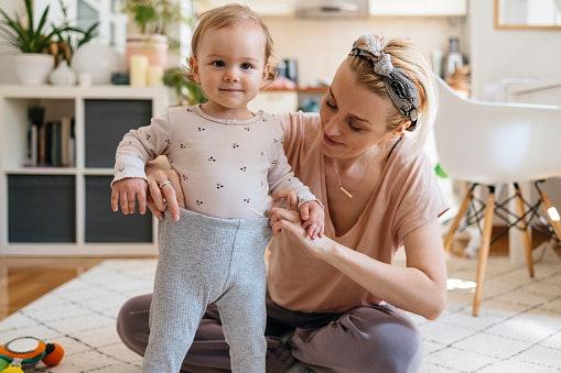 Lebih baik pilih legging satu ukuran di atas ukuran bayi Anda