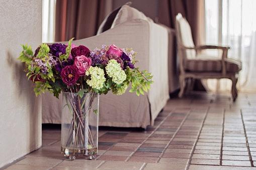 Dekorasi bunga plastik, kuat digunakan jangka panjang