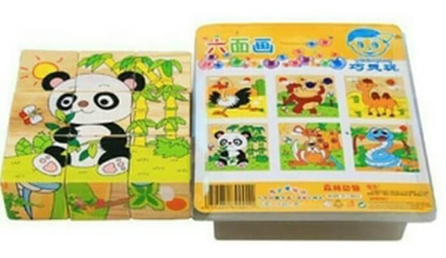 Jigsaw Puzzle Kayu 6-in-1 3D 1