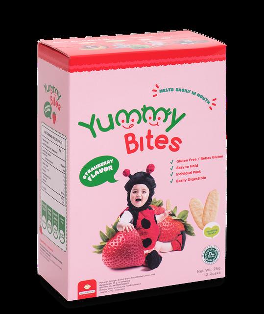 Yummy Bites  Rice Crackers Strawberry 1