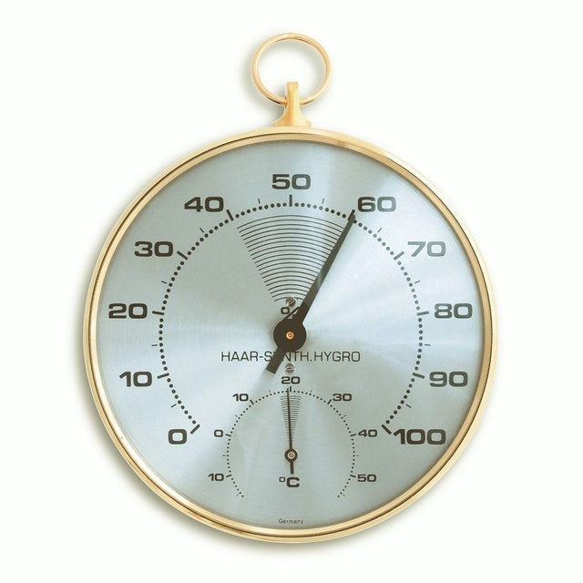 TFA-Dostmann Analogue Thermo-Hygrometer with Brass Ring 1