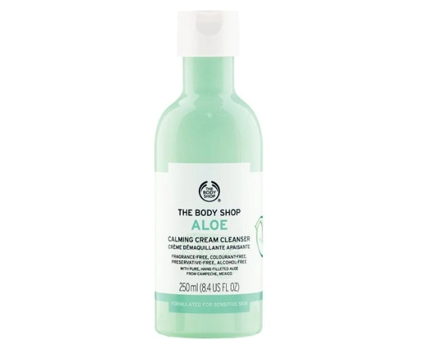 The Body Shop Aloe Calming Cream Cleanser 1