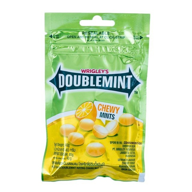 Wrigley's  DoubleMint Chewy Lime Mints Candy 1