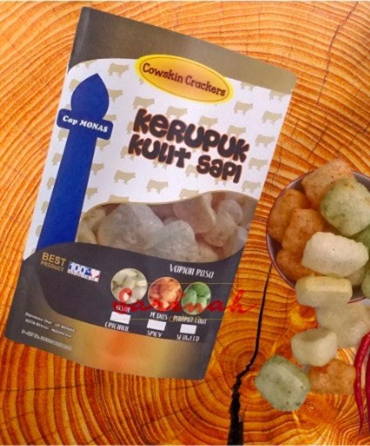 Cap Monas Cowskin Crackers - Kerupuk Kulit Sapi 1
