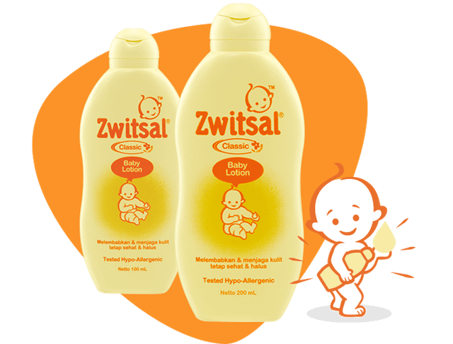 Unilever Zwitsal Baby Lotion Classic 1