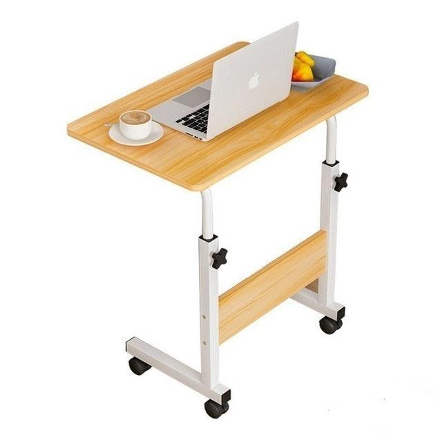 YK DESIGN  Meja Laptop Kasur / Meja Samping Tempat Tidur / Meja Roda Portable Stand Aluminium 1