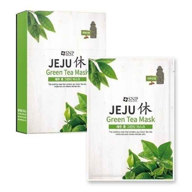 SNP Jeju Rest Green Tea Mask 1