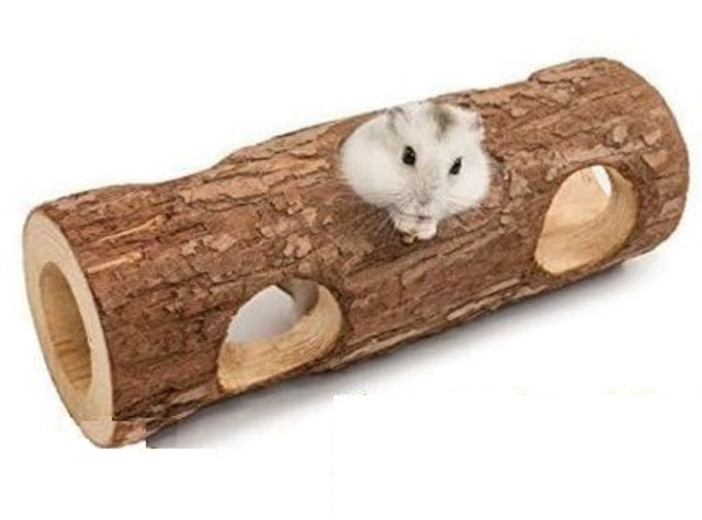Natural Wooden Mini Hamster Cage  1